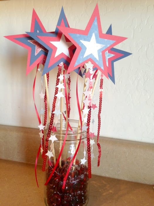 Diy Patriotic Star Wands Miss Sue Living