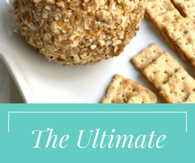 The Ultimate Cheddar Ranch Cheese Ball. Your guests will love eating this appetizer up!