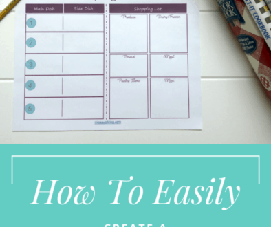 How to Easily Create a Weekly Menu Plan   FREE Printable